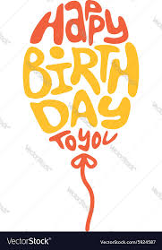 Happy birthday lettering Royalty Free Vector Image