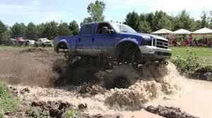 HUGE FORD DIESEL MUD TRUCK Climbs GIANT Hill Ford Trucks