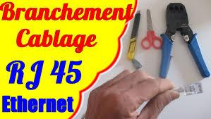 schema branchement cablage pise rj45 ethernet