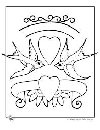 Fantasy Jr Love Birds Coloring Page