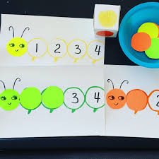 Caterpillar Color And Counting Game Free Printable Activities For 2 25 Year Olds 24 Month Old Two
