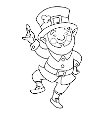 Precious Leprechaun Clipart Black And White 51 About Remodel Free