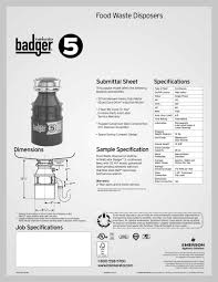 Insinkerator Sink Top Switch Manual by Badger 5 Insinkerator Pdf Catalogues Documentation Brochures