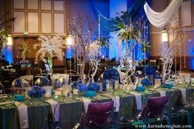 Reception Wedding Reception Venue Decor Peacock Themed Indian Wedding