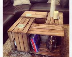 1 X Vintage Wooden Crate Coffee Table