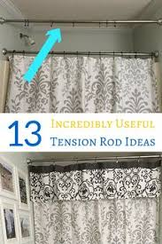 Sidelight Curtain Rods Tension by 24 Insanely Awesome Ways To Use Tension Rods In Your Home Scarf