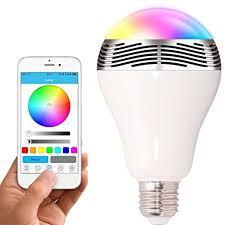 toprime bluetooth smart led light bulb speaker dimmable