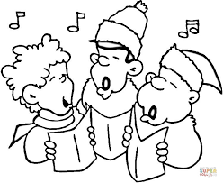 Free Android Coloring A Christmas Carol Pages For Little Carolers Page