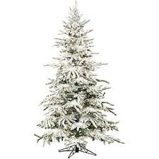 Fraser Hill Farm FFMP090 0SN 9 Ft Flocked Mountain Pine Christmas Tree