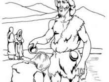 John The Baptist Coloring Page Chic 22 Of Baptizing Jesus Archives Mente