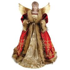 Red Imperial Angel Tree Topper