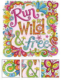 Run Wild And Free Coloring Page By Thaneeya