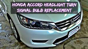 honda accord headlight bulb and front turn signal bulb replacement