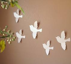 Fascinating Handmade Wall Design Ideas White Bird Fly