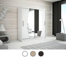 schiebetürenschrank esta modern spiegel weiß sonoma wenge 150 180 200 cm