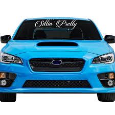 Sittin' Pretty Car Windshield Banner Decal Sticker - 6