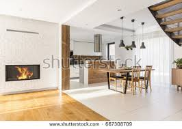 Harmonious Open Kitchen To Dining Room by Communal Harmony Stock Images Royalty Free Images Vectors
