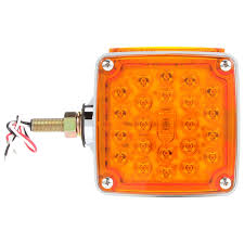 Signal-Stat, LED, Red/Yellow Square, 24 Diode, RH, Dual Face ... Truck Lite Led Headlights Lights 15 Series 3 Diode License Light Rectangular Bracket Mount 80 Par 36 5 In Round Incandescent Spot Black 1 Bulb Trucklite Catalogue 22 Yellow Side Turn 66 Clear Oval Backup Flange 7 Halogen Headlight Glass Lens Alinum 12v Signalstat Redclear Acrylic Lh Combo Box 26 Chrome Atldrl Universal 4 X 6 Snow Plow 21 High Mounted Stop 16 Red 60 Horizontal