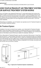 honeywell uv100e owner s manual 69 1573 3 ultraviolet system
