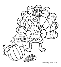 Download Coloring Pages Turkey Day Thanksgiving With For Kids