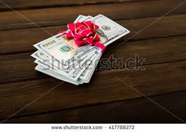 Stack e Hundred Dollar Bills Closeup Stock