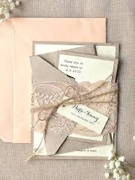 Wedding Shower Invitations Burlap And Lace Rustic Blush Calligraphy With