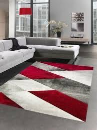 moderner teppich kurzflor wohnzimmerteppich karo abstrakt