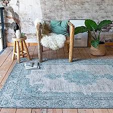 fraai teppich vintage dreams minze turkis 70x140cm baumwolle flachgewebe antik vintage klassik industrielle wohnzimmer esszimmer