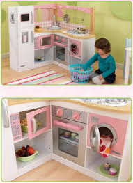 kidkraft grand gourmet corner kitchen play set 53185 kidkraft