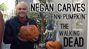 Walking Dead Halloween Pumpkin Carving Patterns by Walking Dead Pumpkin Carving Ft Glenn Rhee Youtube