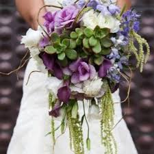 Custom Succulent Cascade Bridal Bouquet By House Of Magnolias