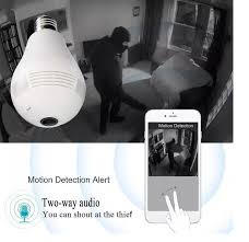2017 new wifi connection 360 panoramic p2p bulb ip