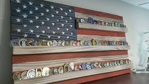 Description American Flag Challenge Coin Display