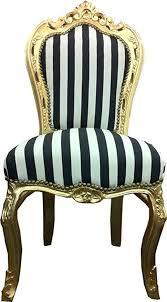 casa padrino barock esszimmer stuhl schwarz weiß streifen