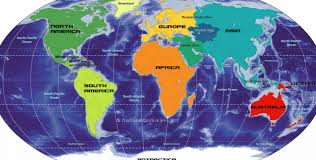 Map Free World Equator Line