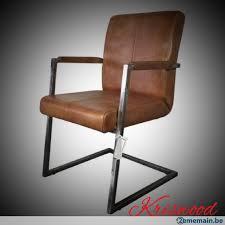banc canapé banc canapé chaise vintage industrielle cuir cognac metal a
