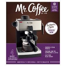 Mr Coffee Espresso Exclusive Machine 4 Cup Steam Cappuccino Maker 1 Of 2FREE Shipping