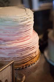 Pink Ombre Two Tier Wedding Cake