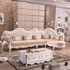 luxus europäischen französisch al stil wohnzimmer geschnitzte holz leder ecke schnitts modulare sofa lounge set buy europäische sofa europäischen
