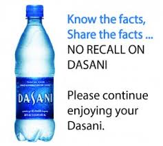 NO RECALL On DasaniR