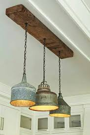 Rustic Kitchen Design With Pendant Lamp Lightsastonishing Lovable Lighting Ideas Large Funnels Repurposed