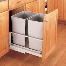 Under Cabinet Trash Can Pull Out by Kitchen Rev A Shelf Trash To Clear Your Kitchen Solution