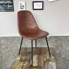 minimalistischen moderne design pu leder pad metall bein esszimmer stuhl café loft stuhl beliebt möbel freizeit mode treffen stuhl