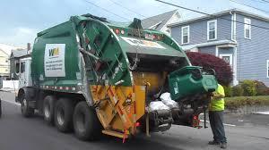 WM-Waste Management Rear Loader - YouTube