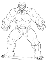 Click To See Printable Version Of Hulk Coloring Page