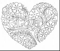 Surprising Valentine Heart Coloring Pages Adults With Hearts And Kingdom