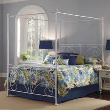 Twin Metal Canopy Bed White With Curtains by Bedroom Spacious White Canopy Bed With The Sheer White Curtains