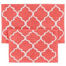 Red Bathroom Rug Set by Coral Colored Bath Rugs Roselawnlutheran