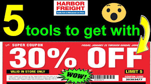 5 Items To Get With 30% Coupon  Harbor Freight Harbor Freight Coupons December 2018 Staples Fniture Coupon Code 30 Off American Eagle Gift Card Check Freight Coupons Expiring 9717 Struggville Predator Coupon Code Cinemas 93 Tools Database Free 25 Percent Black Friday 2019 Ad Deals And Sales Workshop Reference Motorcycle Lift Store Commack Ny For Android Apk Download I Went To Get A For You Guys Printable Cheap Motels In