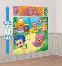 Bubble Guppies Cake Decorating Kit by Bubble Guppies Scene Setter Happy Birthday Party Wall Decoration